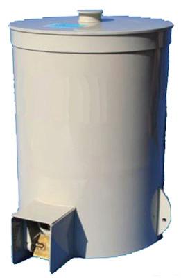 Modell Battery mit 40-220 l Behälter, Steuerung und Auswurfmechanismus