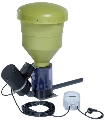Modell Blowerfeeder with 10-20 kg hopper and plate