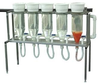 Weissglasanlage mit 5 Gläsern